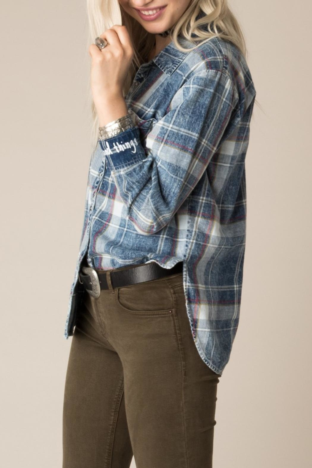 White Crow Dorado Plaid Shirt - Front Full Image