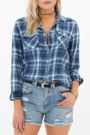 White Crow Embroidered Plaid Shirt - Product Mini Image