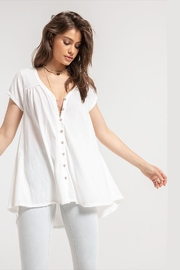 White Crow Gather-Back White Tunic - Front cropped