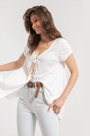 White Crow Gather-Back White Tunic - Side cropped