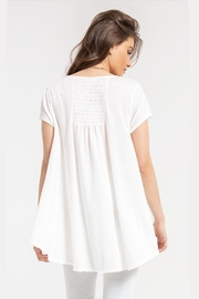 White Crow Gather-Back White Tunic - Front full body