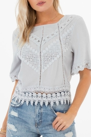 White Crow Gracie Crochet-Lace Top - Product Mini Image