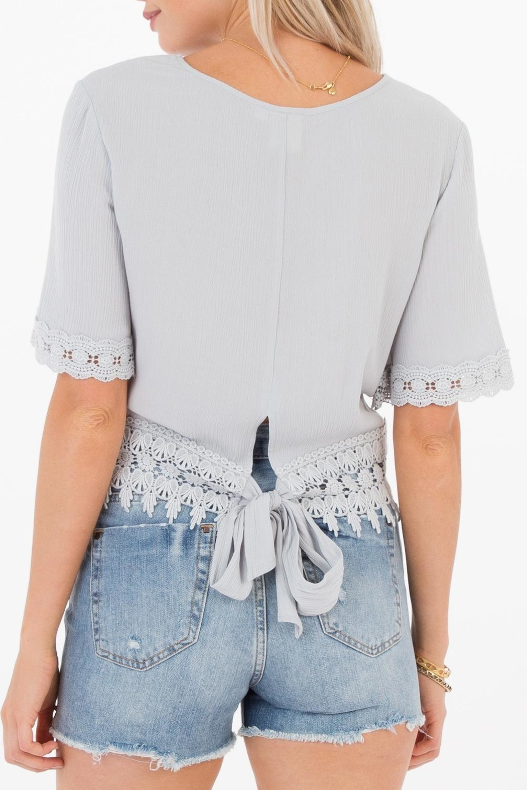 White Crow Gracie Crochet Top - Front Full Image