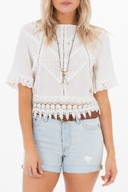 White Crow Gracie Crochet Top - Front cropped