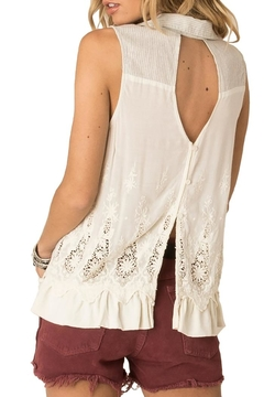 White Crow Lace Back Collared Tank - Alternate List Image