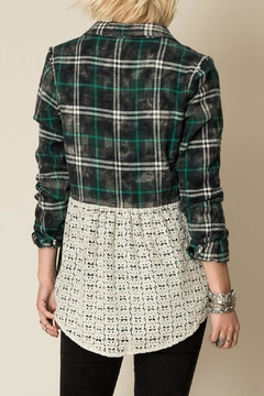 White Crow Lace Back Flannel Top - Alternate List Image