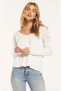 White Crow Lace Shouldered Top - Alternate List Image