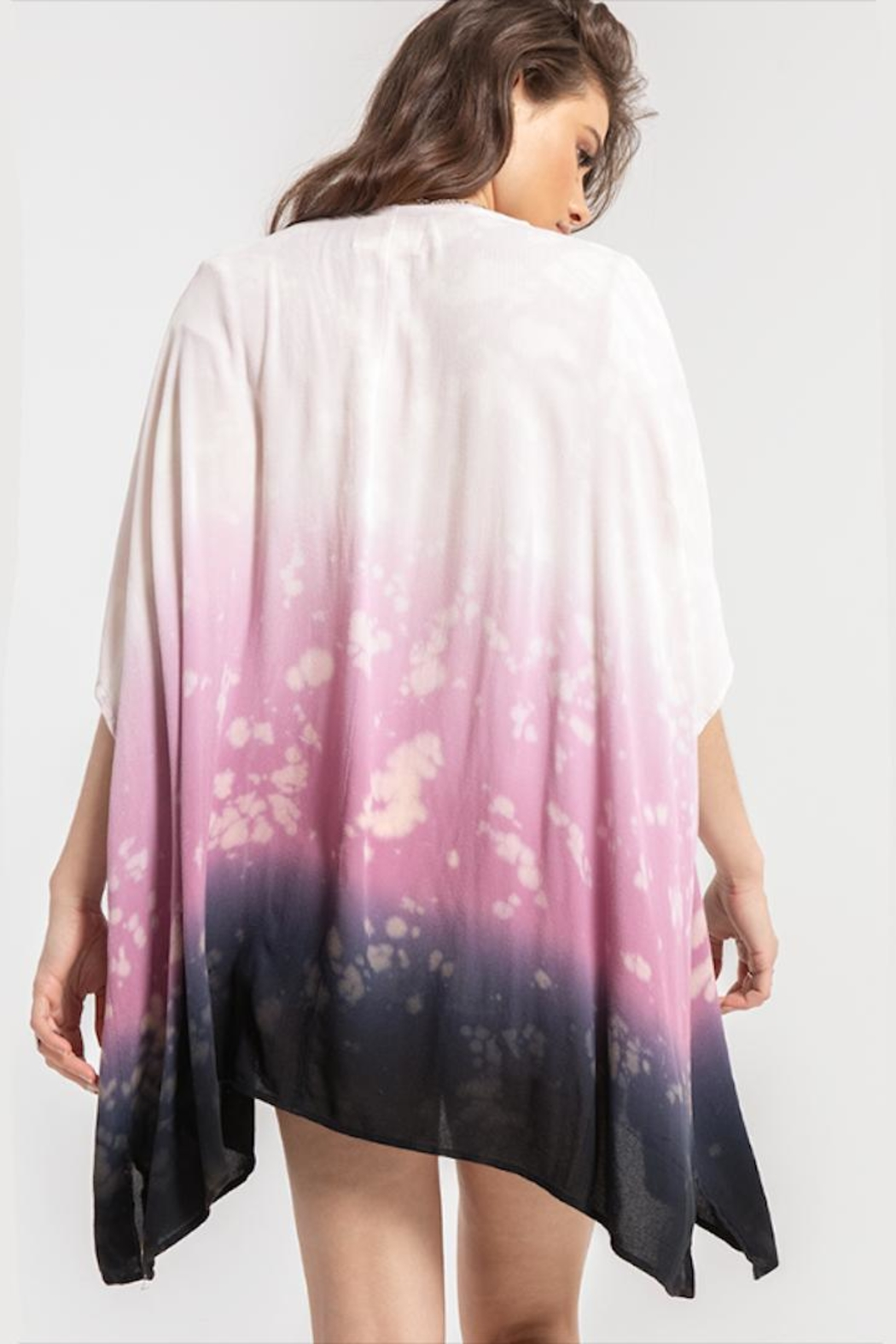 White Crow Light-Weight Indigo-Purple Kimono - Side Cropped Image
