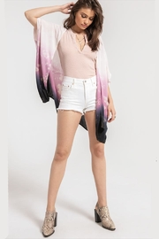 White Crow Light-Weight Indigo-Purple Kimono - Front cropped