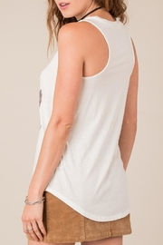 White Crow Palm V-Neck Tank - Front full body