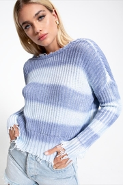 White Crow Periwinkle Fade Sweater - Front full body
