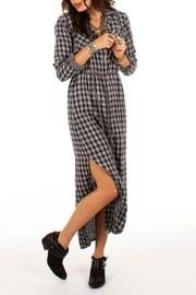 White Crow Plaid Dress - Product Mini Image