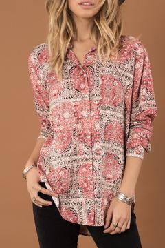 White Crow Relaxed Print Button Down - Product List Image