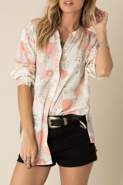 White Crow Rose Print Blouse - Product Mini Image