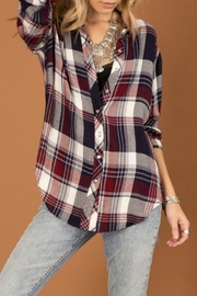White Crow Shadow Chaser Flannel Top - Product Mini Image