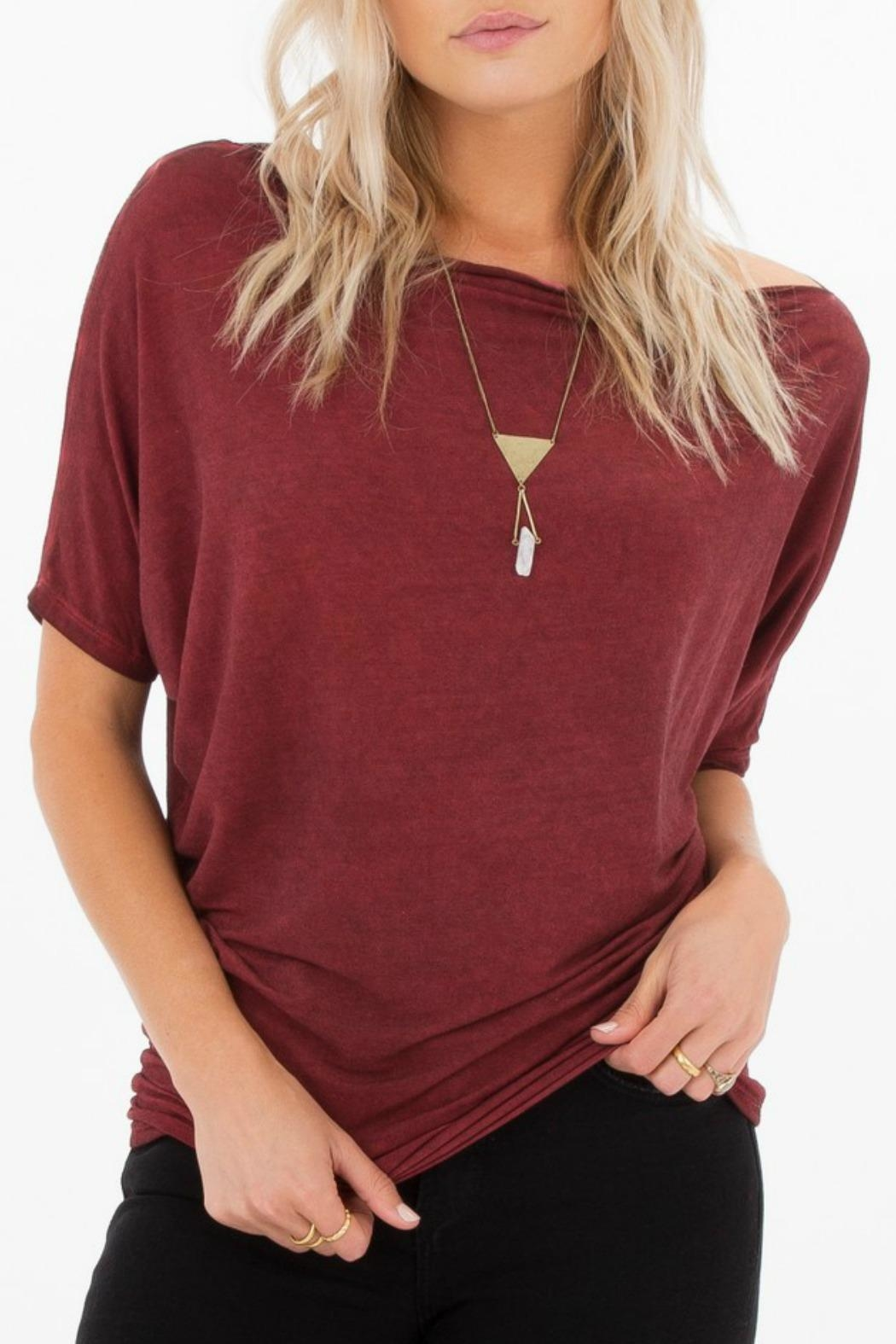 White Crow Sierra Boatneck Top - Front Cropped Image