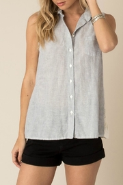 White Crow Striped Sleeveless Shirt - Product Mini Image