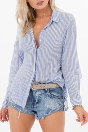 White Crow Striped Collared Shirt - Product Mini Image
