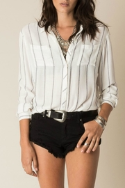 White Crow Stripped Button Blouse - Product Mini Image