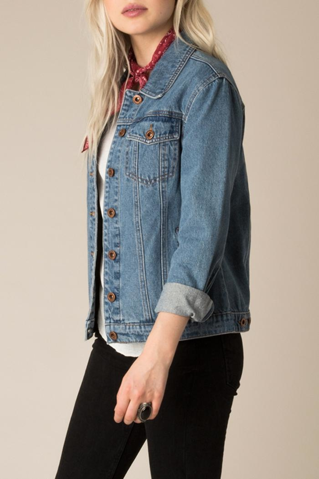 White Crow Western Denim Jacket - Side Cropped Image