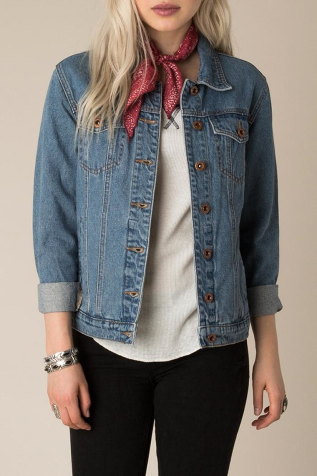 White Crow Western Denim Jacket - Main Image