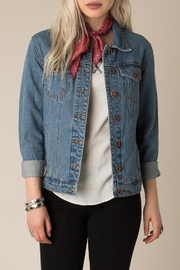 White Crow Western Denim Jacket - Front cropped