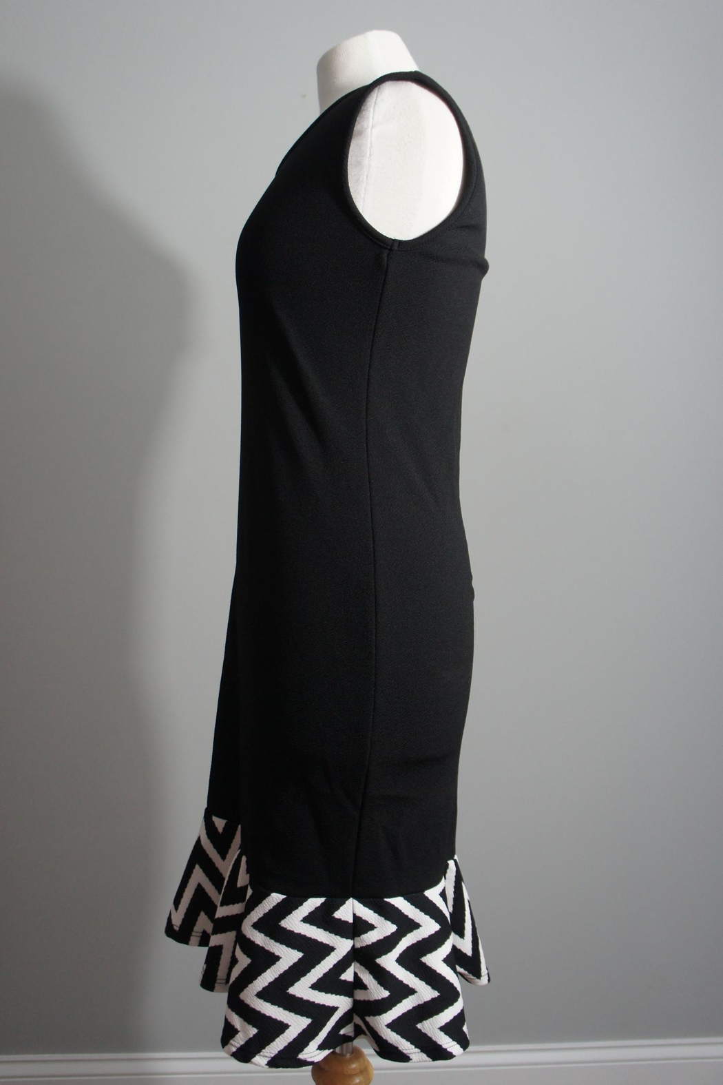 White Mark Little-Black-Dress Chevron Trim - Front Full Image