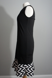 White Mark Little-Black-Dress Chevron Trim - Front full body