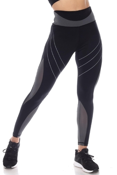 White Mark High-Waist Reflective Piping Fitness Leggings - Product List Image