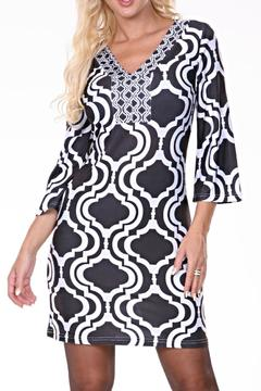 White Mark Pattern Tunic Dress - Product List Image