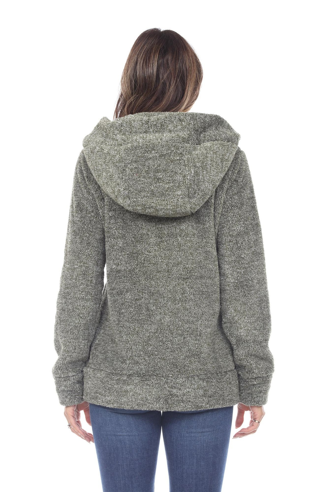 White Mark Women's Super Soft Hooded Sherpa Jackets - Side Cropped Image