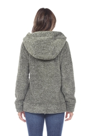 White Mark Women's Super Soft Hooded Sherpa Jackets - Side cropped