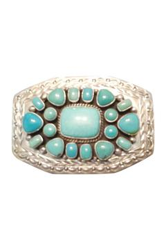 Shoptiques Product: Silver Turquoise Buckle