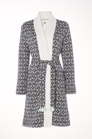 White Stuff Fluffy Jacquard Robe - Front cropped
