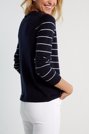 White Stuff Navy Meadow Sweater - Back cropped