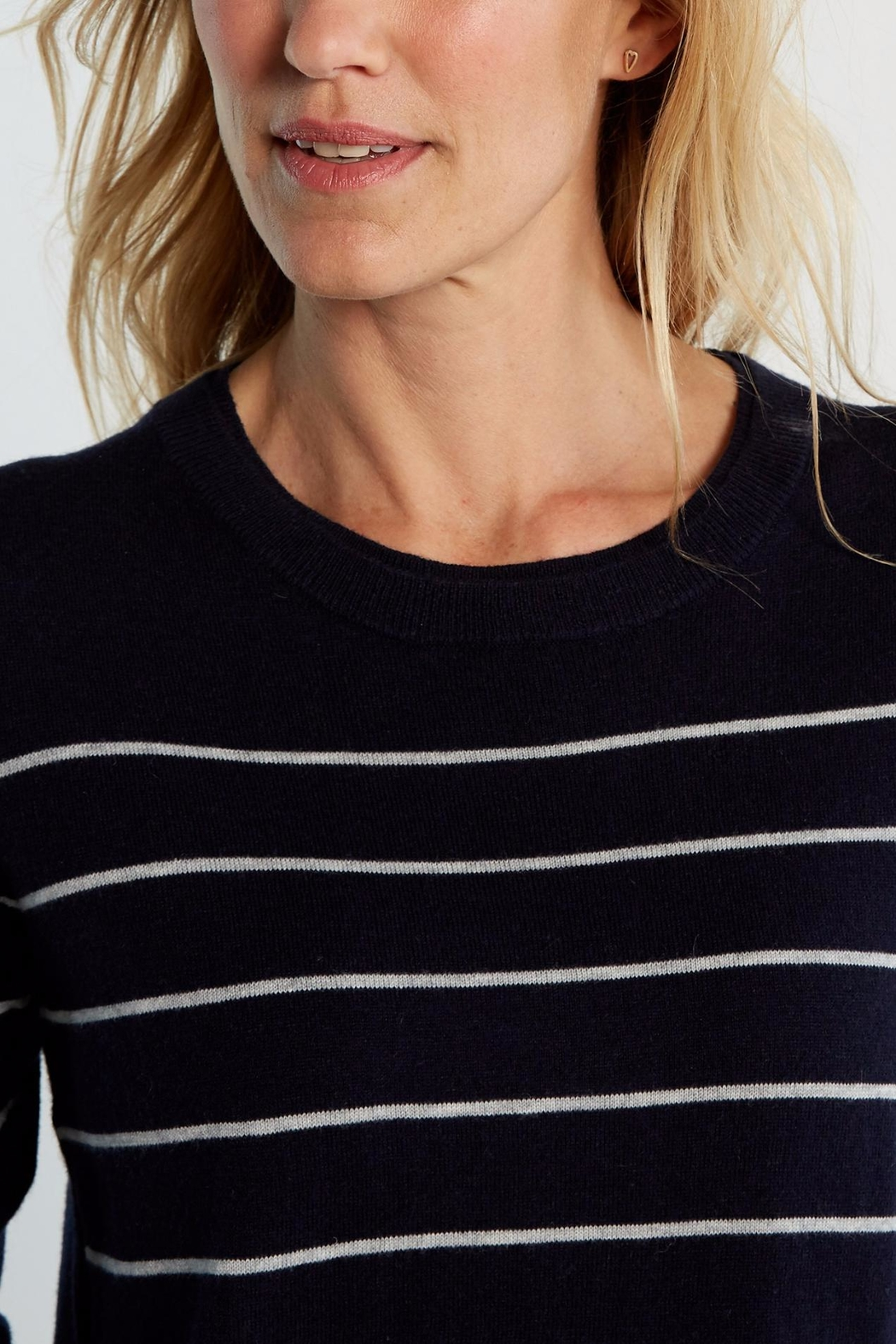 White Stuff Navy Meadow Sweater - Side Cropped Image