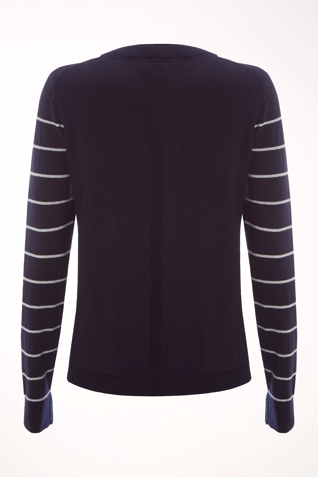 White Stuff Navy Meadow Sweater - Front Full Image