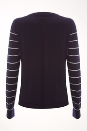 White Stuff Navy Meadow Sweater - Front full body