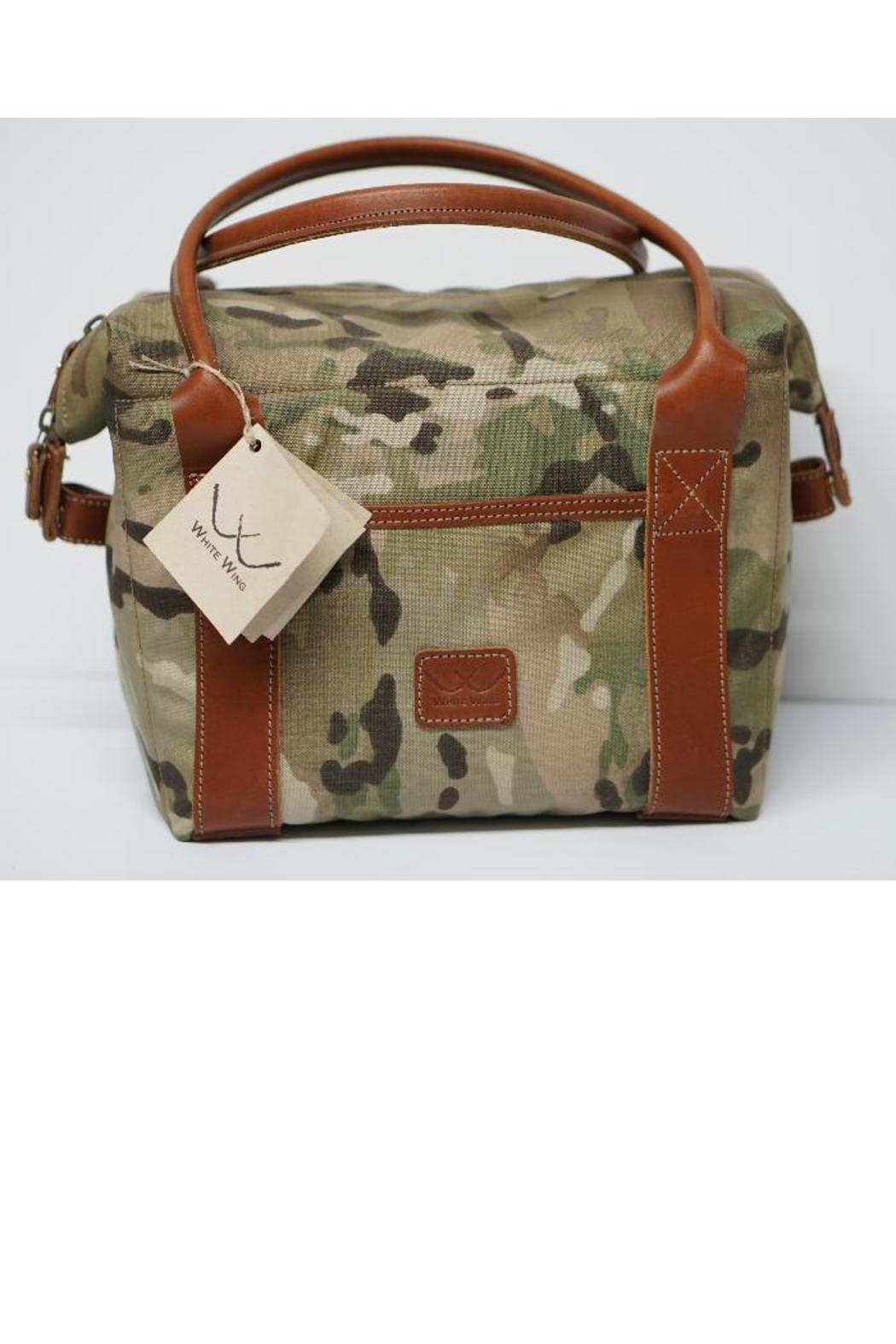 White Wing Camo Cooler Front Cropped Image