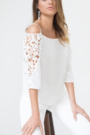 Urban Touch Whitelacedetail Coldshoulder Top - Product Mini Image