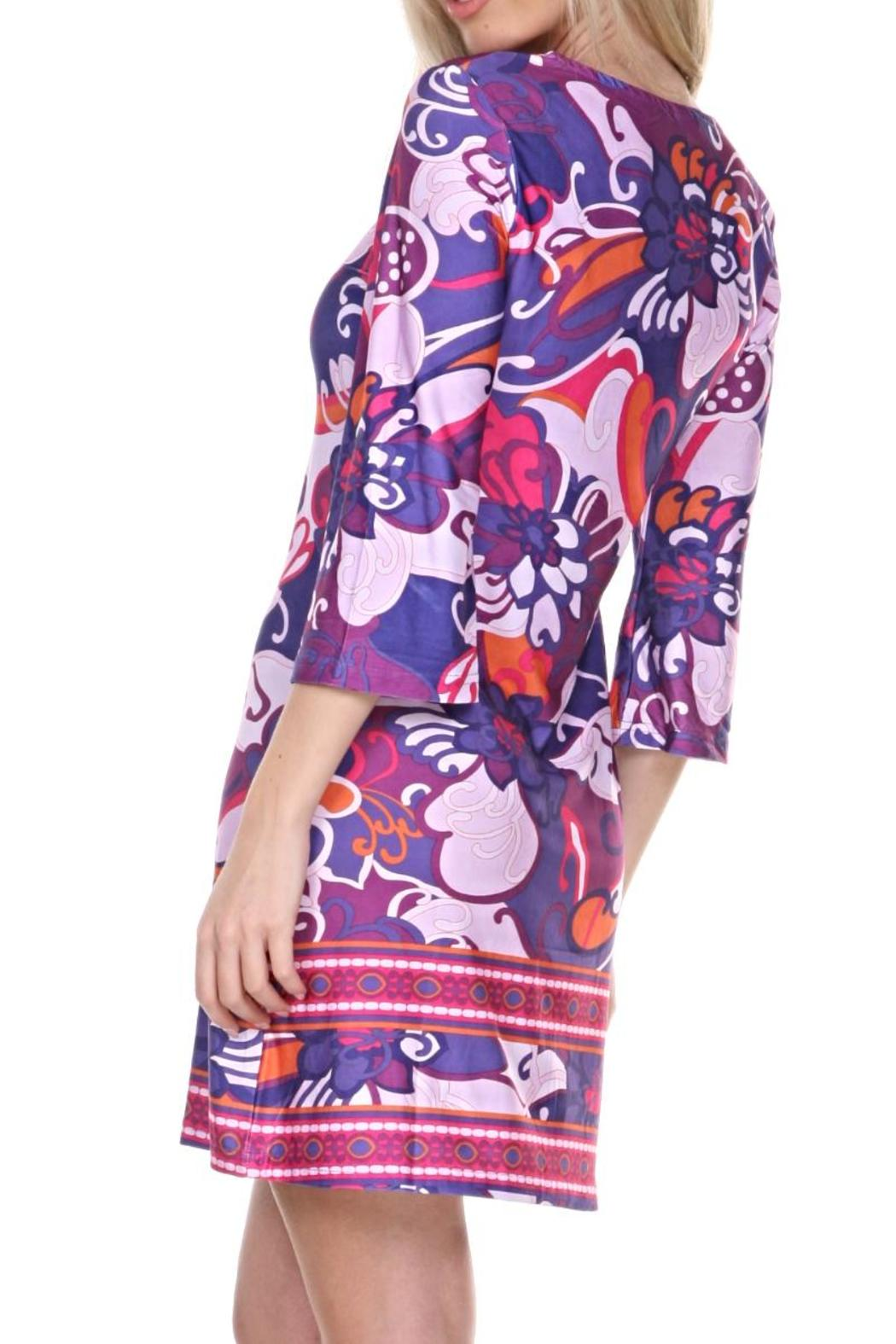 whitemark Floral Tunic Dress - Front Full Image