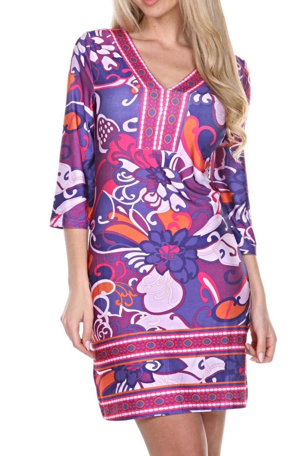 whitemark Floral Tunic Dress - Main Image
