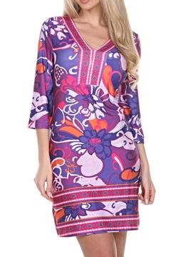 whitemark Floral Tunic Dress - Product List Image