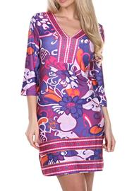 whitemark Floral Tunic Dress - Front cropped