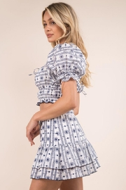 Whiteroom Cactus Embroidered Skirt Set - Side cropped
