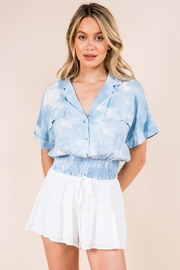 Whiteroom Cactus Tie Dye Top - Front cropped