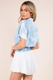Whiteroom Cactus Tie Dye Top - Back cropped