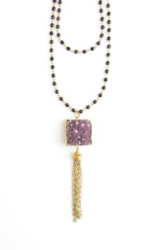 Whitley V Amethyst Druzy Necklace - Product List Image