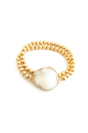 Whitley V Gold Bead Bracelet - Product Mini Image