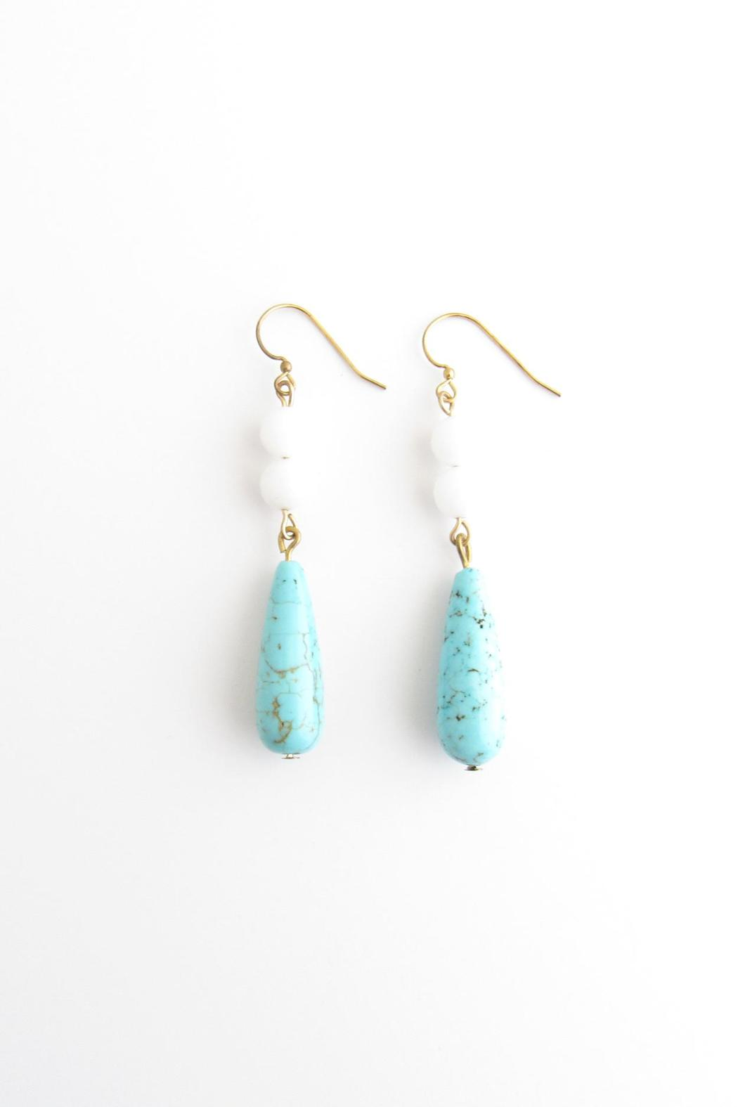 Whitley V Jade Turquoise Earrings - Front Cropped Image